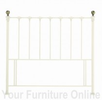 Victoriana Antique White/Antique Brass Headboard - 135cm- Double & 150cm - King Size