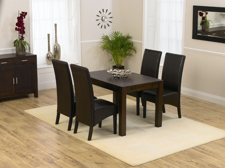 savanna dark oak dining table 120cm 4 savanna dark oak dining chairs