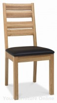 Provence Oak Slatted Dining Chairs - Pair
