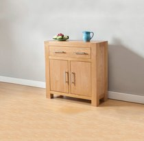 Milano Oak Compact Sideboard with 1 Drawer and 2 Doors