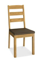 Hampshire Oak Slatted Dining Chairs - pair
