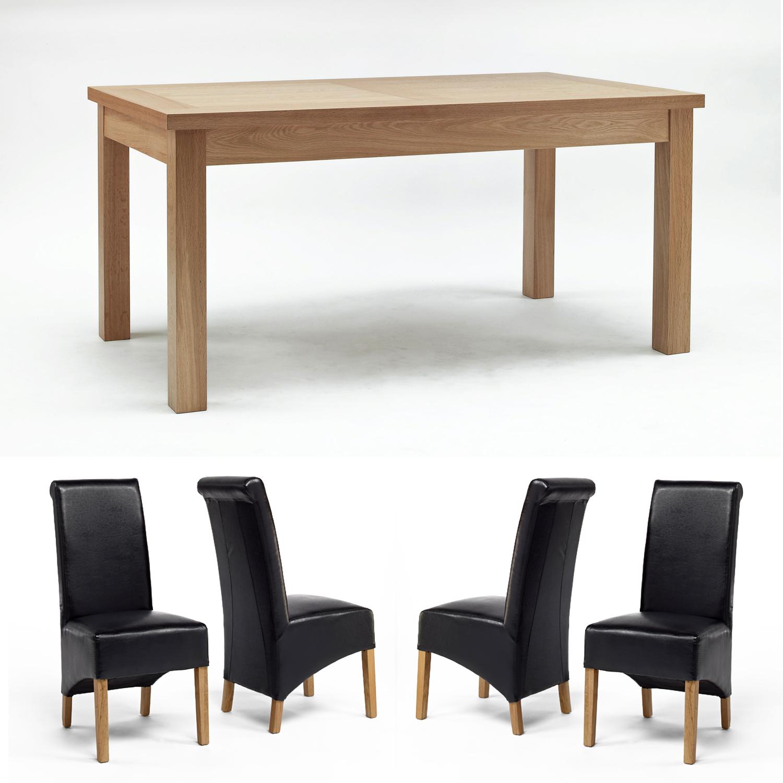 Sherwood Oak Dining Table 1600mm   4 Or 6 Sherwood Oak Black Rollbacks . Full resolution  portraiture, nominally Width 1500 Height 1500 pixels, portraiture with #8D683E.