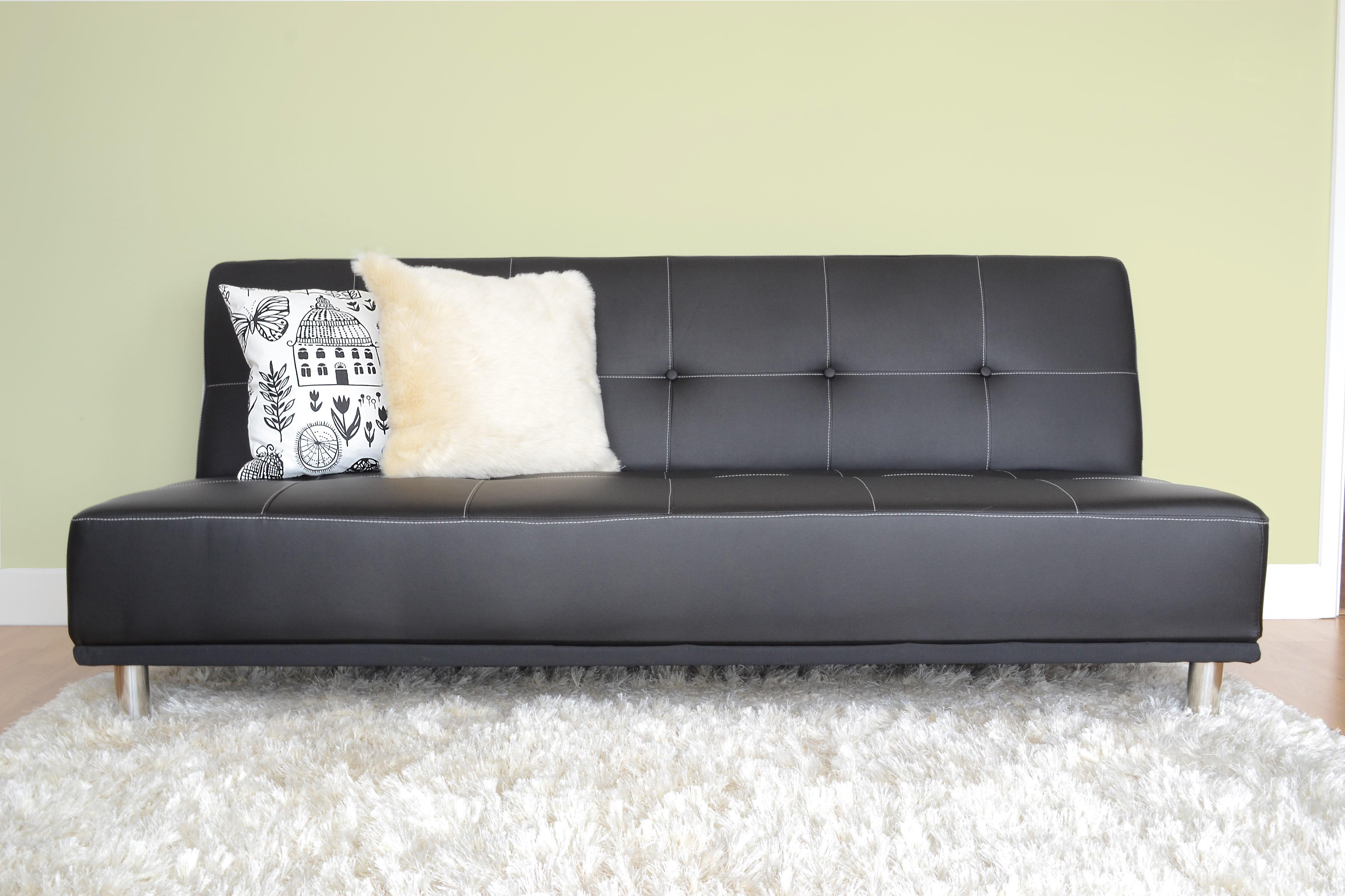 Duke Faux Leather Futon Sofa Bed