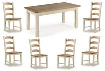 Provencal Kitchen Dining Table - 150cm & 4 or 6 Provencal Chairs