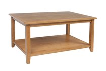 Croft Oak Coffee Table with Shelf