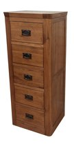 Knightsbridge Oak 5 Drawer Wellington