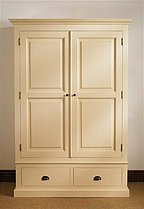 Mottisfont Painted Double Wardrobe 2 Drawers