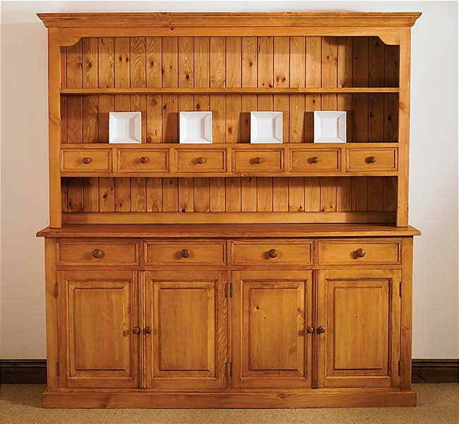 Mottisfont Waxed Large Welsh Dresser (Wooden)