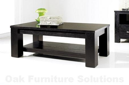 Cuba Black Coffee Table Oak Furniture Solutions