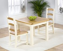 Provencal Kitchen Square Dining Table - 90cm & 2 Provencal Chairs