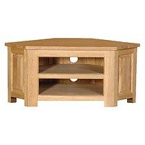 Coach House Quebec Oak Low Corner TV Cabinet