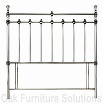 Clara Antique Nickel Headboard - 135cm - Double & 150cm - King Size