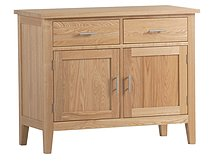 New England Ash 2 Door 2 Drawer Sideboard