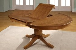 Chateau Oak Round To Oval Extending Dining Table 4 Or 6 Chateau Solid O