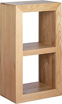 Cuba Solid Oak 2 Hole Storage Cube