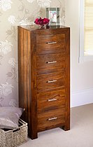 Cuba Sheesham 5 Drawer Wellington