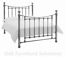 Isabelle Antique Nickel Bedstead - 135cm - Double & 150cm - King Size