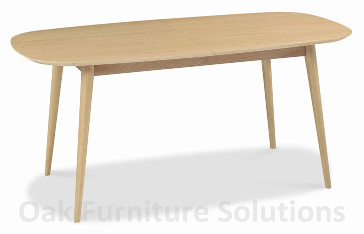 Orbit Oak 6 8 Seater Centre Extension Dining Table