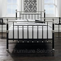 Rosalind Black/Shiny Nickel Bedstead - 135cm - Double & 150cm - King Size