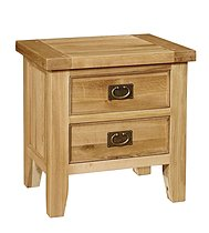 Chiltern Oak 2 Drawer Lamp Table