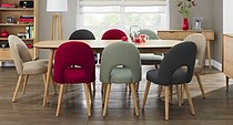 Oslo Oak Extension Dining Table & Extensive Choice of 6 or 8 Dining Chairs
