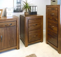 Mayan Walnut 2 Drawer Filing Cabinet