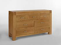 Santana Blonde Oak 7 Drawer Chest of Drawers