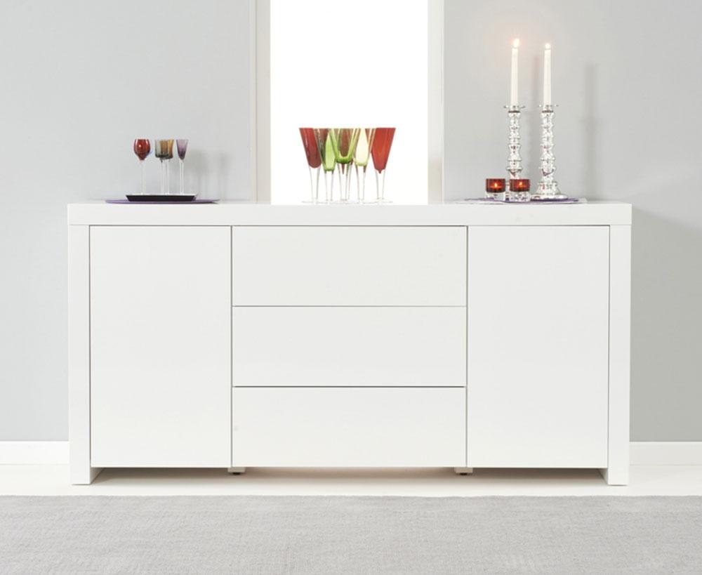 Ornella White High Gloss Sideboard | Oak Furniture Solutions
