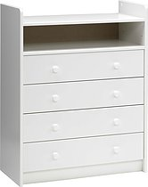 Steens for Kids White 4 Drawer Baby Changing Unit/Chest of Drawers