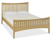 Alba Oak High Footend Bedstead - Double or King Size